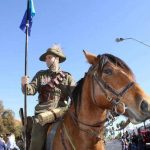 martin godwin with his horse leon in WWI parade